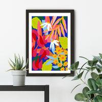 Heal Your Soul Floral Art Print Black Frame | Bombinate