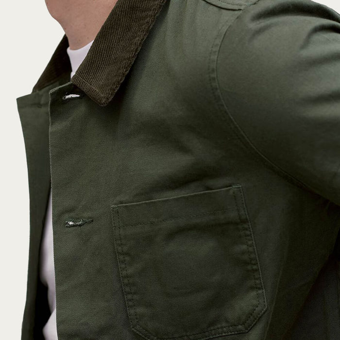 Forest Corduroy Collar Vincent Button | Bombinate
