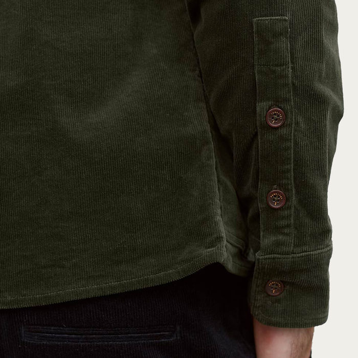 Deep Green Cord Outershirt | Bombinate