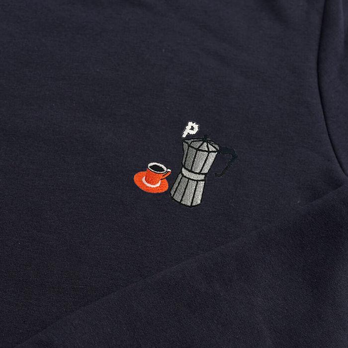 Navy Sweatshirt | Moka Pot Embroidery | Bombinate