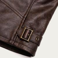 Varenne Fur Collar Brown Leather Jacket  | Bombinate