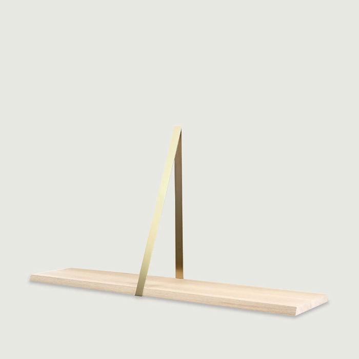 Natural T-Square Wooden Shelf | Bombinate