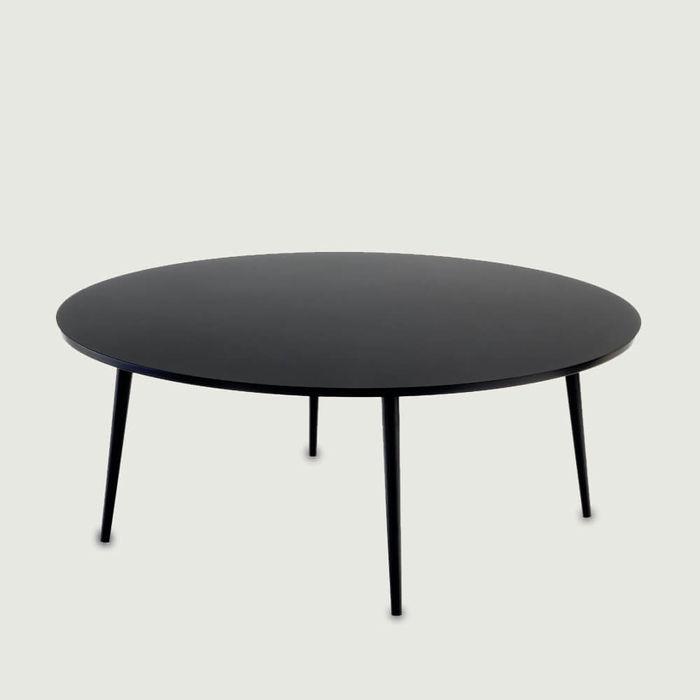 Black Soho Round Coffee Table | Bombinate