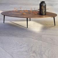 Walnut Soho Oval Coffee Table | Bombinate
