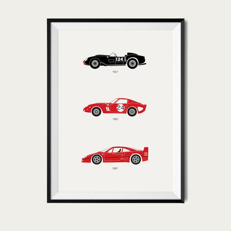 A Purebred Legacy – Ferrari Poster | Bombinate