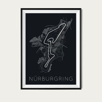 Titan of Tracks – Nürburgring Poster | Bombinate