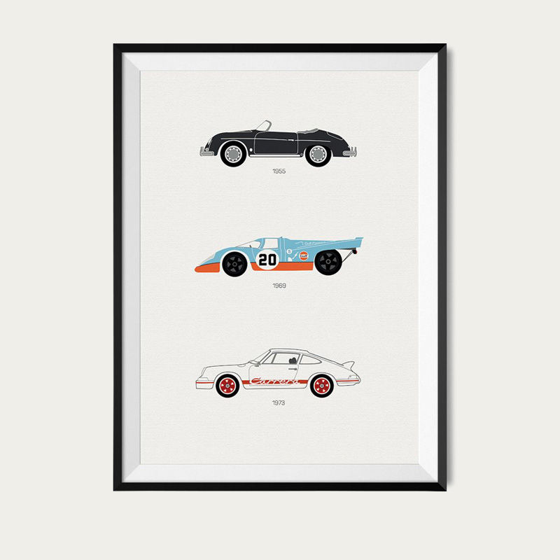 A Thoroughbred Drive – Porsche Poster | Bombinate