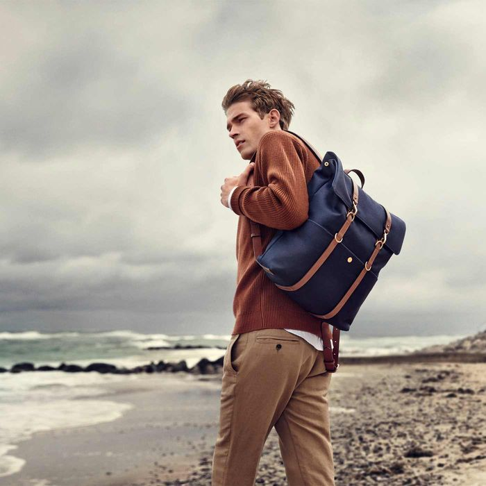 Midnight Blue/Cuoio M/S Backpack | Bombinate