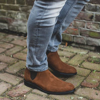 Camel Chelsea Suede Boots | Bombinate