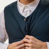 Navy/Grey Puffer Vest | Bombinate