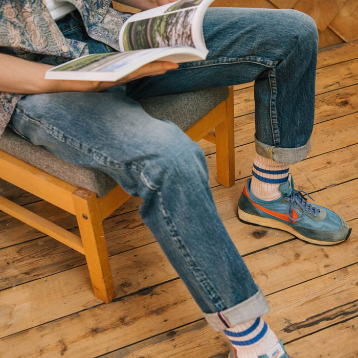 Vintage Wash Relaxed Fit Selvedge Denim Jeans | Bombinate
