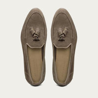 Light Brown Suede Ettore Seppia Loafers | Bombinate
