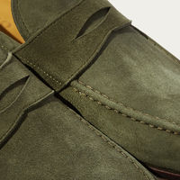 Dark Green Suede Leather Lisandro Aspro Verdone Loafers | Bombinate