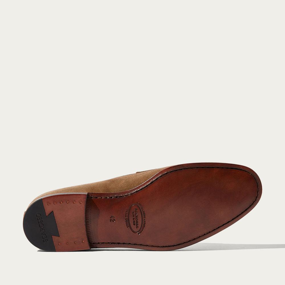 Tobacco Suede Leather Marzio Scamosciato Loafers | Bombinate