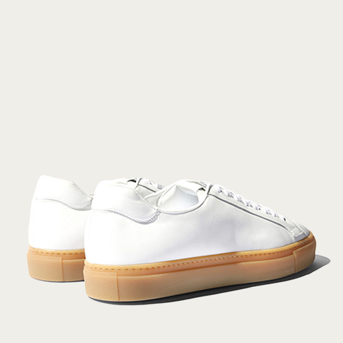 White Calf – Beige Sole Ugo Edit Sneakers   Bombinate