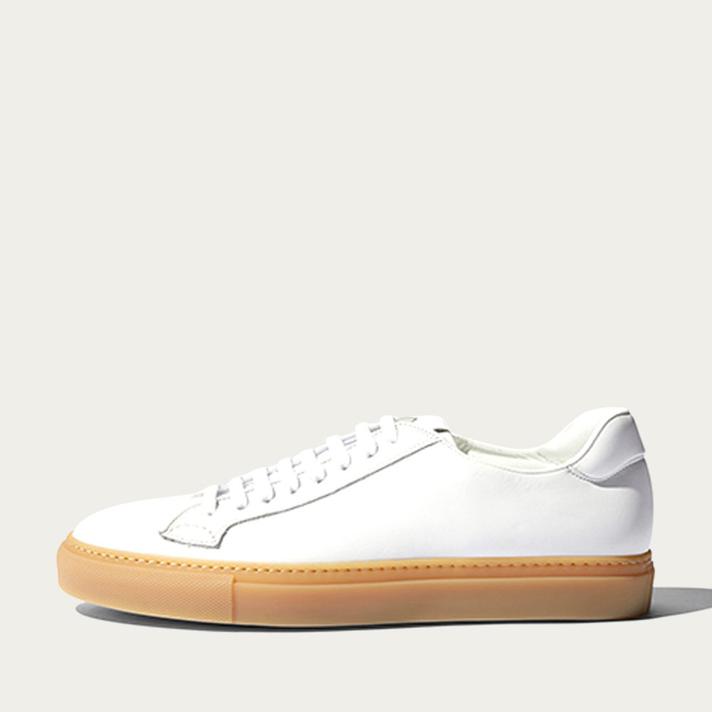 White Calf – Beige Sole Ugo Edit Sneakers | Bombinate