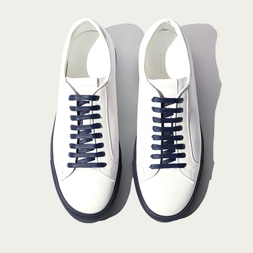 White Calf – Blue Navy Sole Ugo Edit Sneakers | Bombinate