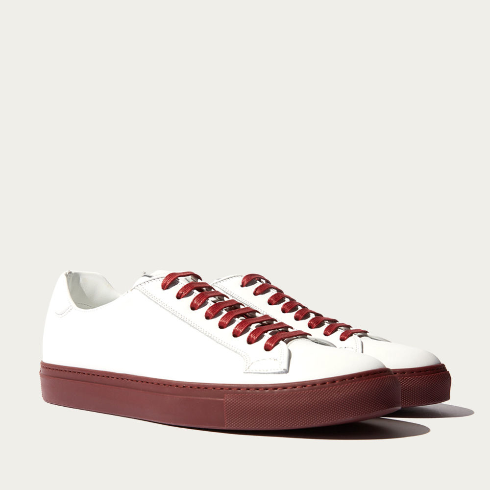White Calf – Dark Red Sole Ugo Edit Sneakers | Bombinate