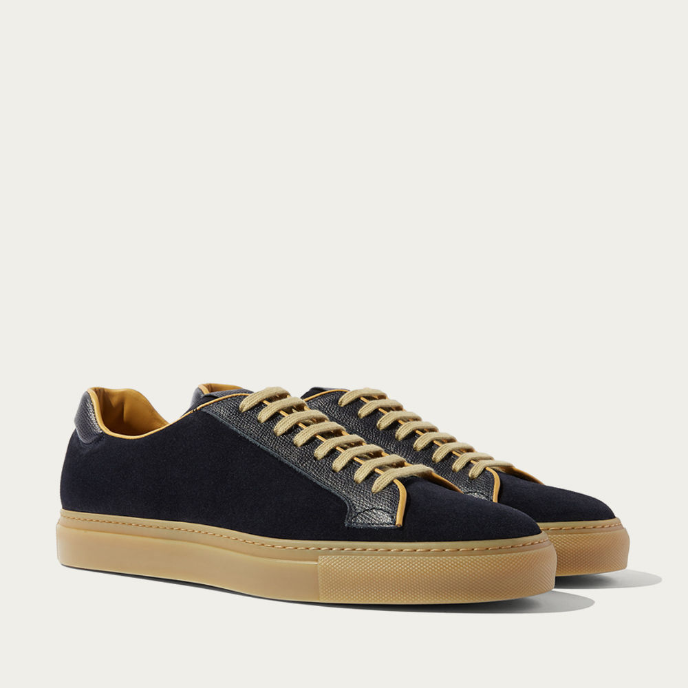 Blue Suede And Calf Ugo Blu Scamosciato Sneakers | Bombinate