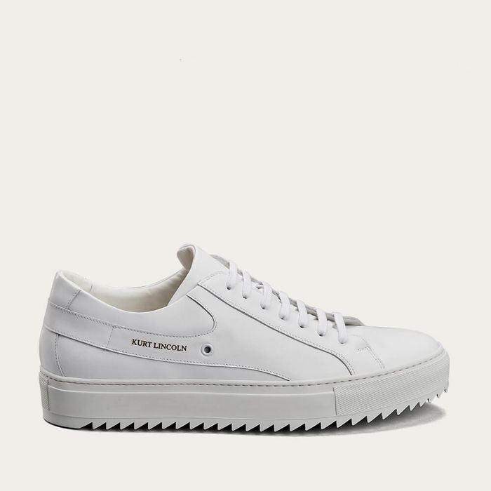 White Rydge Sole Low Top Sneakers | Bombinate
