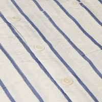 Navy Seersucker Stripe Whiting Shirt | Bombinate