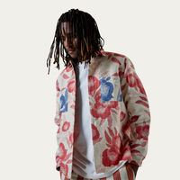 Floral Red Whiting Shirt | Bombinate
