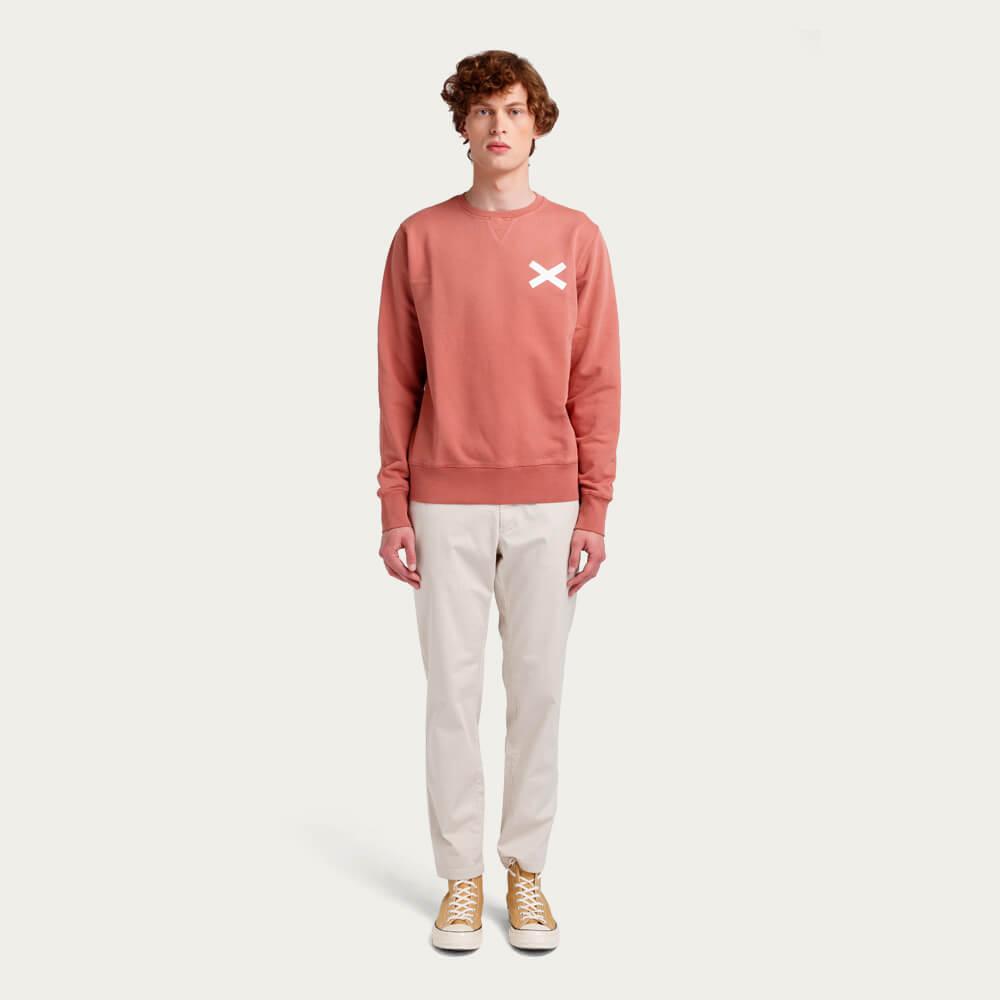 Coral Cross Sweatshirt | Bombinate