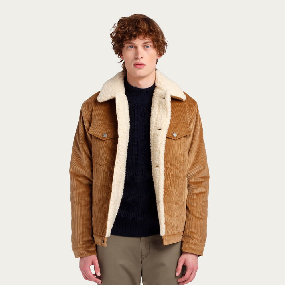 Corduroy Shearling Jacket | Bombinate