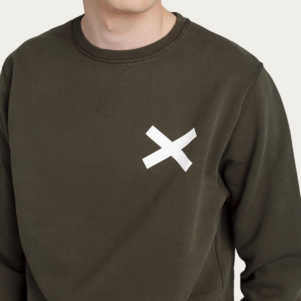 Green Cross Sweatshirt | Bombinate
