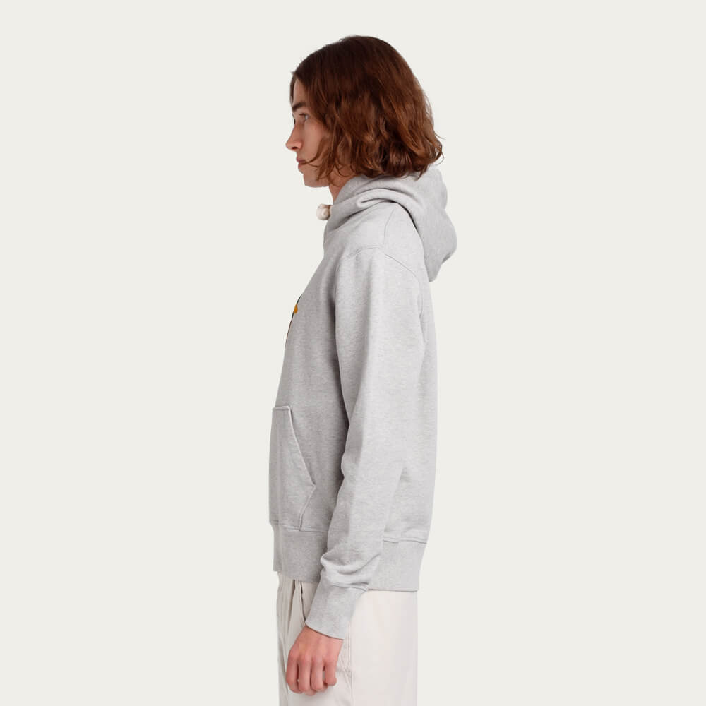 Grey Melange Duck Hunt Hoodie | Bombinate