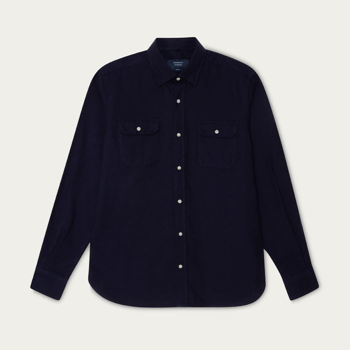 Navy Mountain Shirt | Bombinate