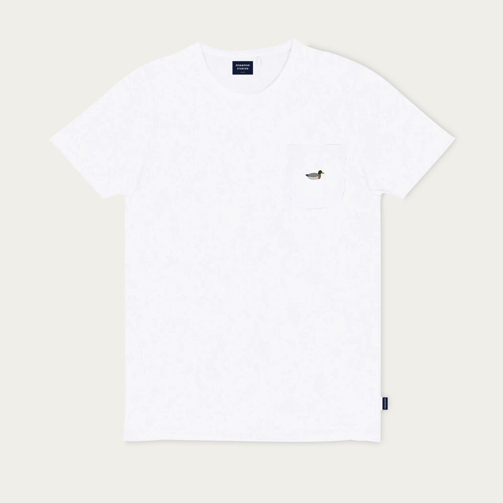 White Duck patch T-Shirt | Bombinate