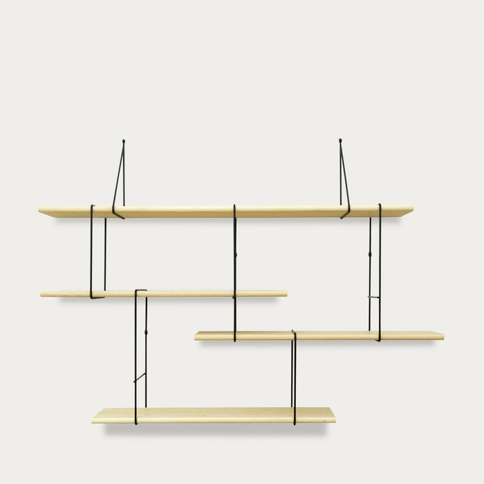 Ash / Black LINK Set 1 Shelf  | Bombinate