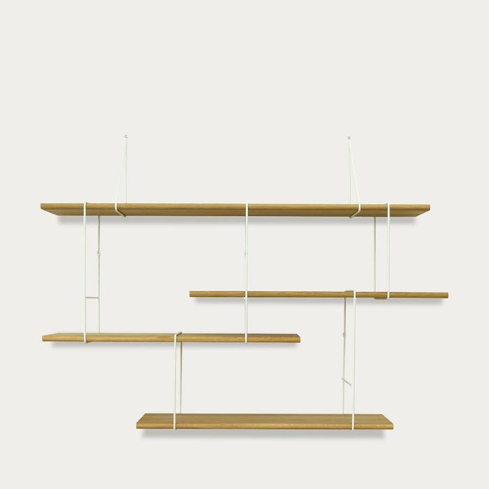 Oak / White LINK Set 1 Shelf  | Bombinate