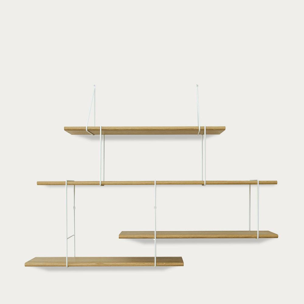 Oak / White LINK Set 2 Shelf  | Bombinate