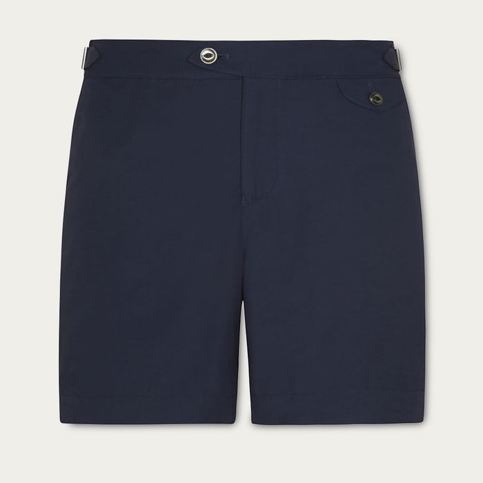 Navy Clipper Swim Shorts | Bombinate
