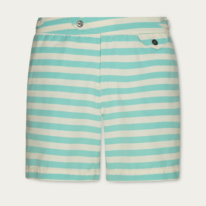 Green Regatta Clipper Stripe Swim Shorts | Bombinate