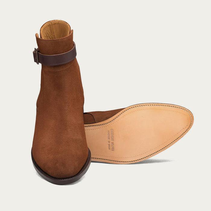 Camel Jermyn Suede Boots | Bombinate