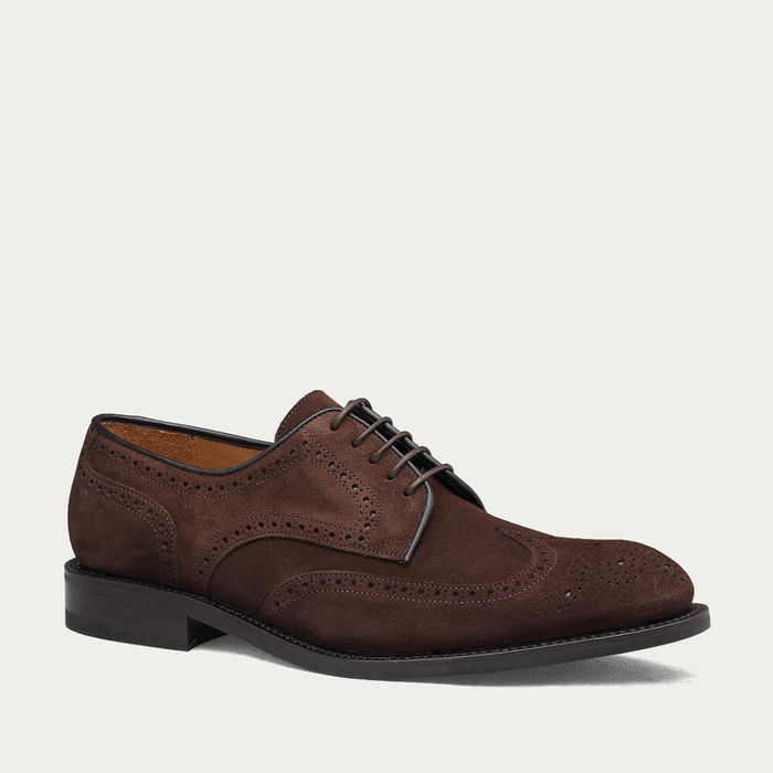 Brown Dover Suede Shoes   Bombinate