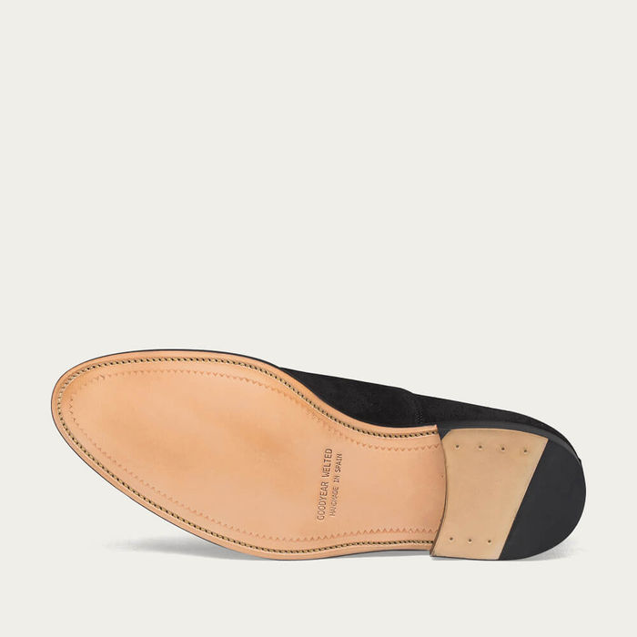 Black Downtown Suede Shoes | Bombinate