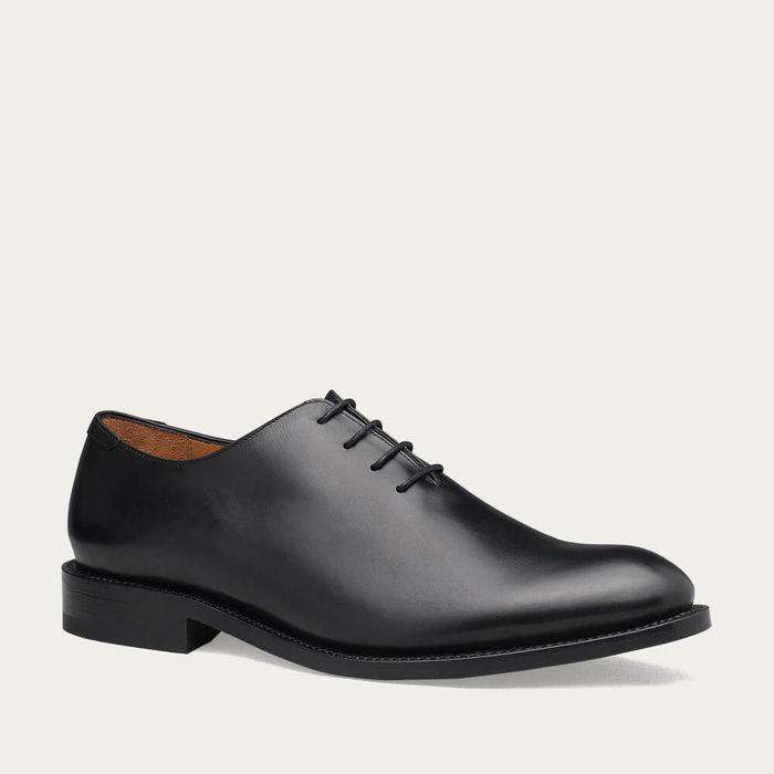 Black Kensington Leather Shoes   Bombinate
