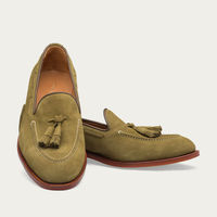 Army Green Abbey Suede Loafer   Bombinate