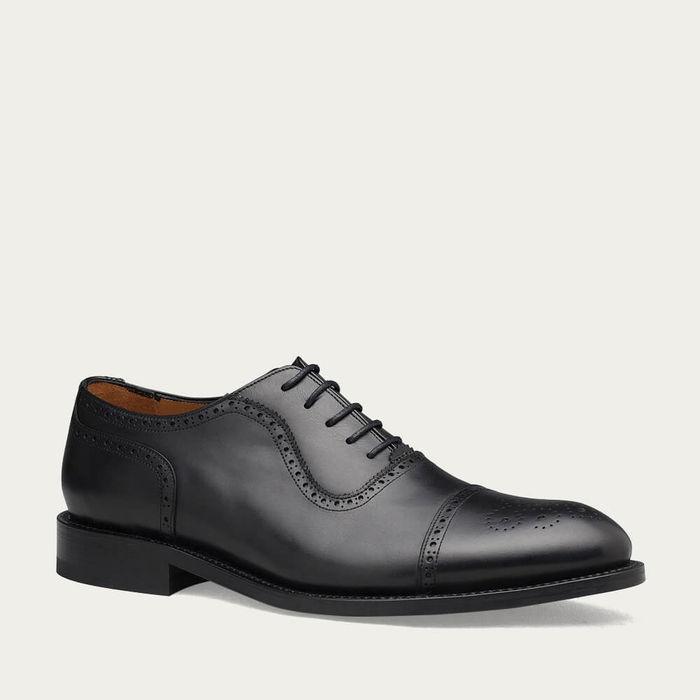 Black St James Leather Shoes | Bombinate