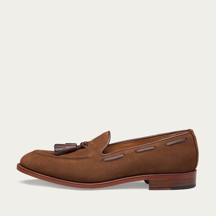 Camel Abbey Suede Loafer | Bombinate