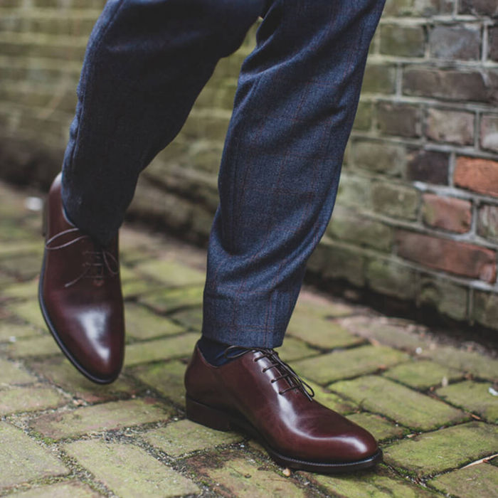 Brown Kensington Leather Shoes | Bombinate