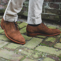 Brown St James Suede Shoes | Bombinate