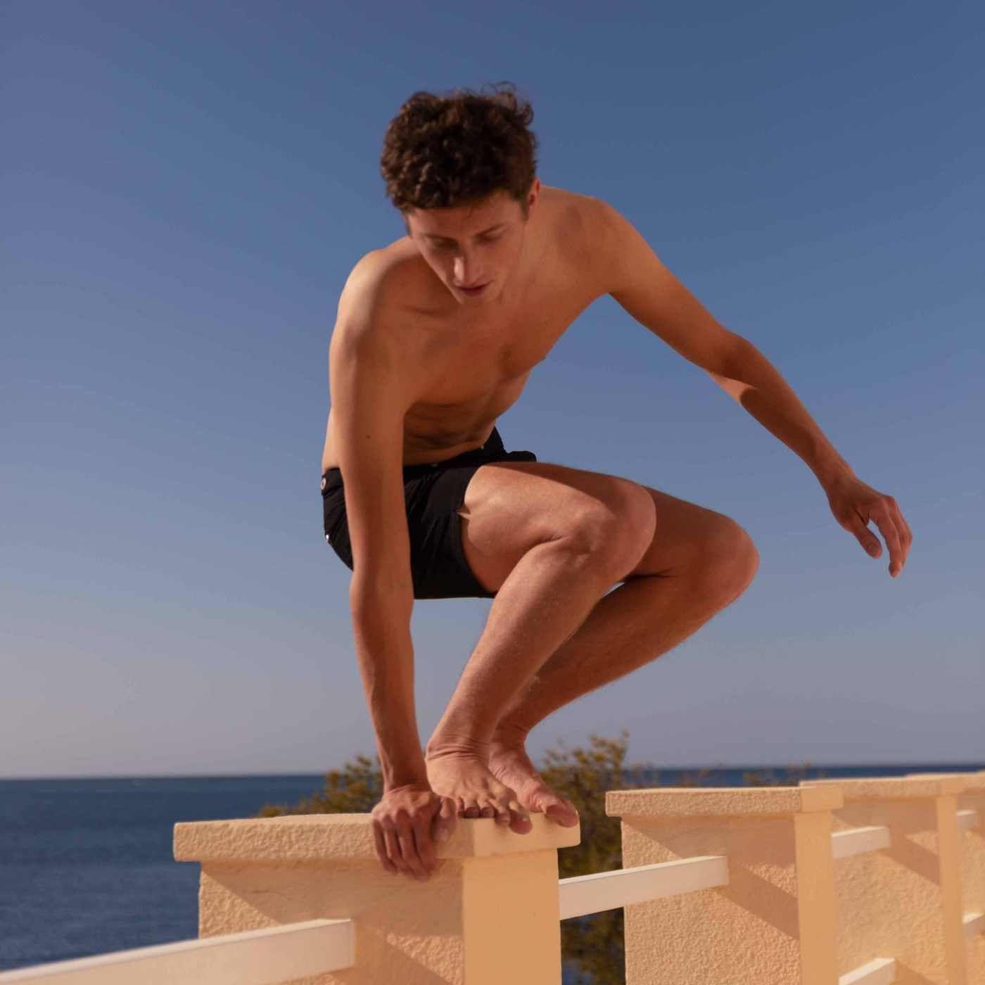 Black Enzo Swim Short | Bombinate