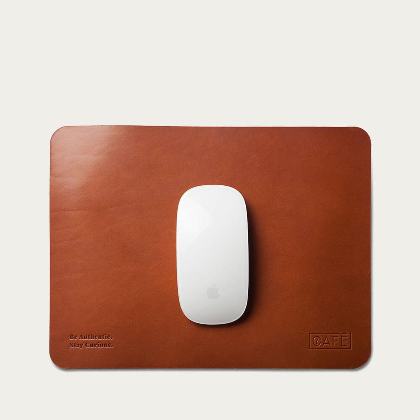 Roasted Leather Mouse Pad   Bombinate