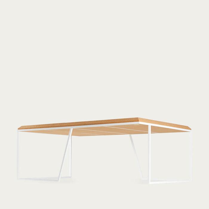 Light Cork And White Legs Grão #1 Center Table | Bombinate