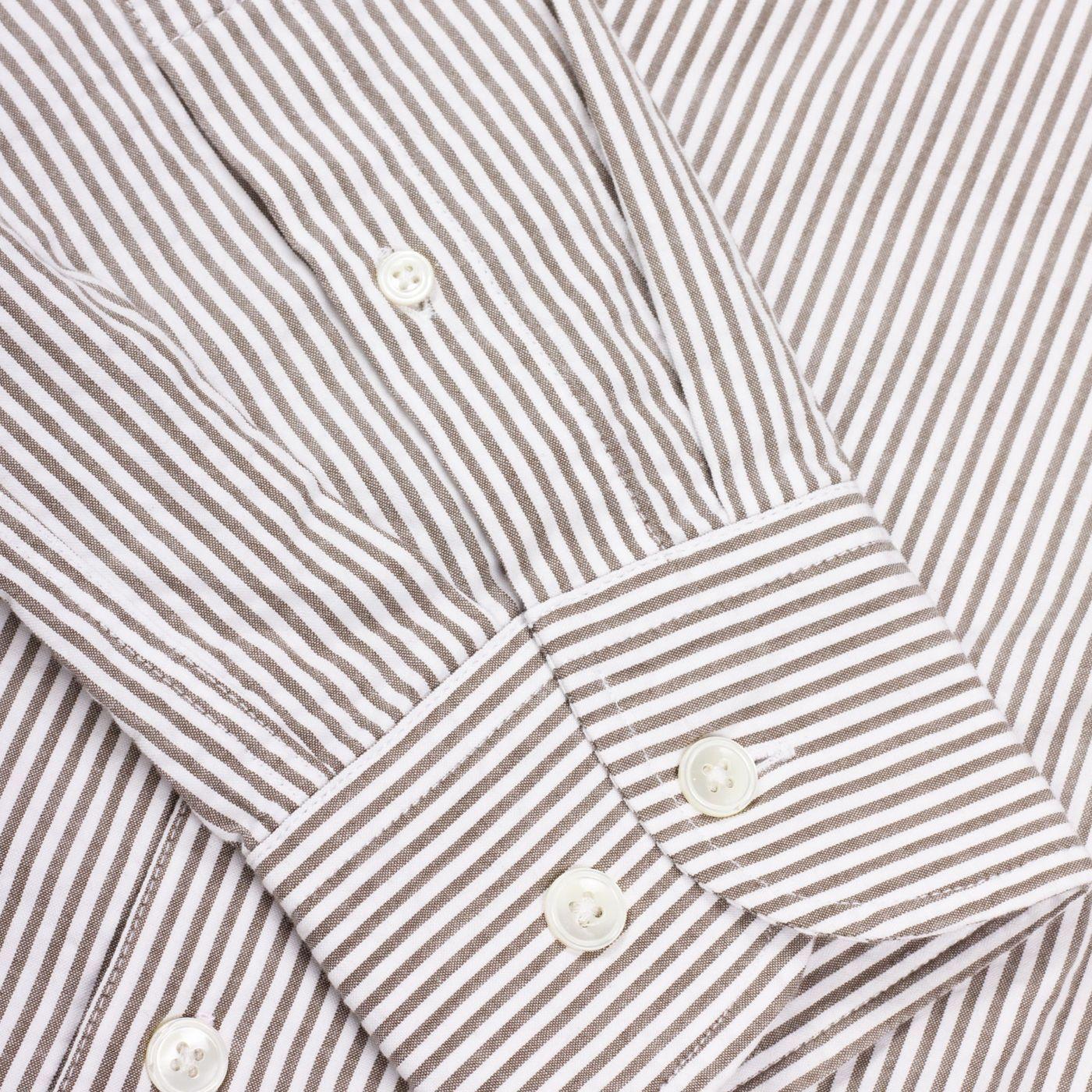 Olive Green/White Seersucker Shirt   Bombinate